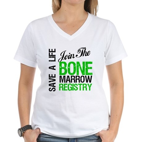 JoinTheBoneMarrowRegistry (G) Women's V-Neck T-Shi