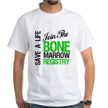 JoinTheBoneMarrowRegistry (G) White T-Shirt