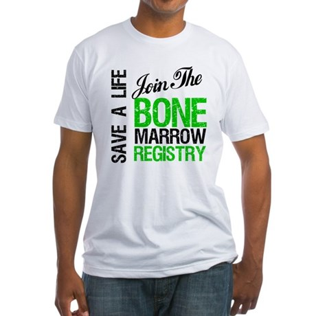 JoinTheBoneMarrowRegistry (G) Fitted T-Shirt