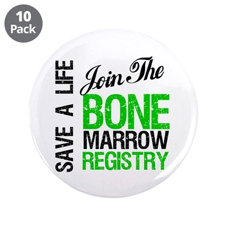 "JoinTheBoneMarrowRegistry (G) 3.5"" Button (10 pack"