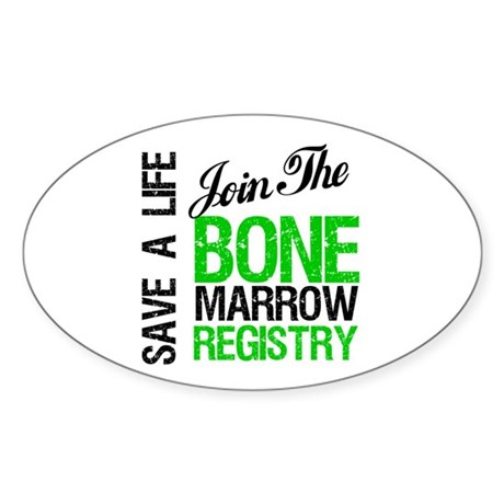 JoinTheBoneMarrowRegistry (G) Oval Sticker