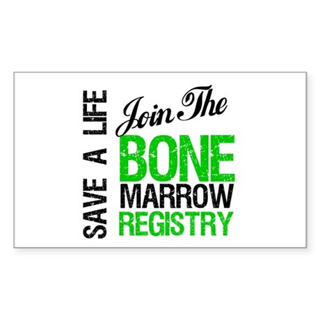 JoinTheBoneMarrowRegistry (G) Rectangle Sticker