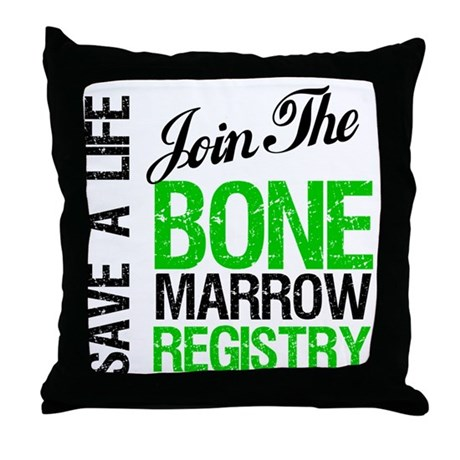 JoinTheBoneMarrowRegistry (G) Throw Pillow