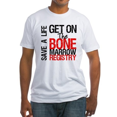 GetOnThe Bone Marrow Registry Fitted T-Shirt