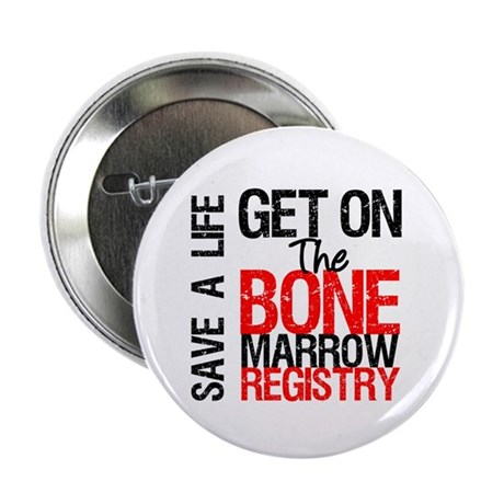 "GetOnThe Bone Marrow Registry 2.25"" Button"