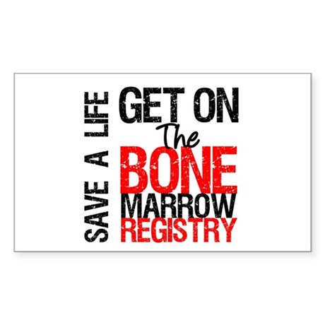 GetOnThe Bone Marrow Registry Rectangle Sticker