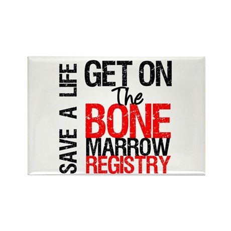 GetOnThe Bone Marrow Registry Rectangle Magnet (10