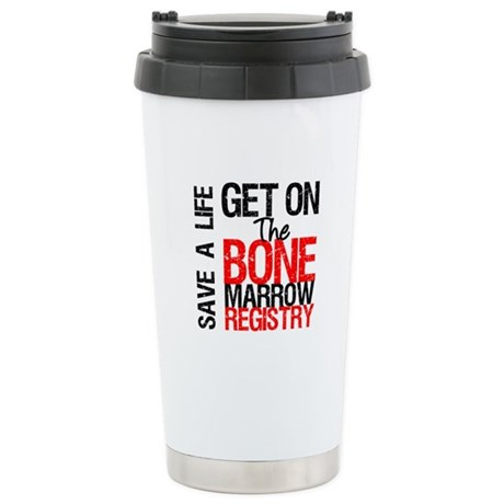 GetOnThe Bone Marrow Registry Ceramic Travel Mug