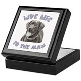 Funny Black lab art Keepsake Box