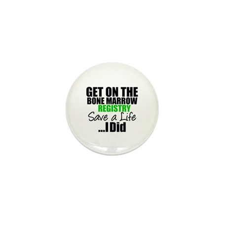 GetOnThe Bone Marrow Registry Mini Button