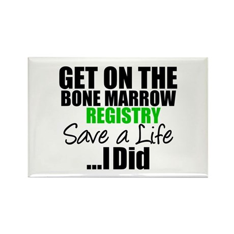 GetOnThe Bone Marrow Registry Rectangle Magnet
