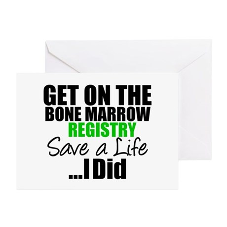 GetOnThe Bone Marrow Registry Greeting Cards (Pk o