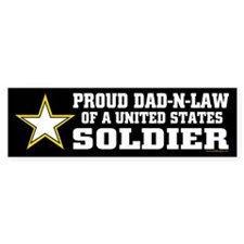 Proud Dad in law Soldier/BLK Car Sticker