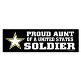 Proud Aunt of a U.S. Soldier/BLK Bumper Stickers