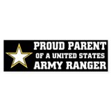 PROUD PARENT - ARMY RANGER Bumper Car Sticker