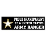 PROUD GRANDPARENT - ARMY RANGER Bumper Car Sticker