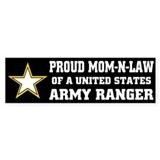 PROUD MOM IN LAW - ARMY RANGER Bumper Bumper Sticker