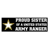 PROUD SISTER - ARMY RANGER Bumper Bumper Sticker
