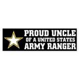PROUD UNCLE - ARMY RANGER Bumper Bumper Sticker