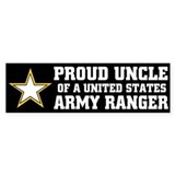PROUD UNCLE - ARMY RANGER Bumper Bumper Stickers