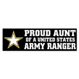 PROUD Aunt - ARMY RANGER Bumper Bumper Sticker