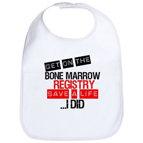 GetOnThe Bone Marrow Registry Bib