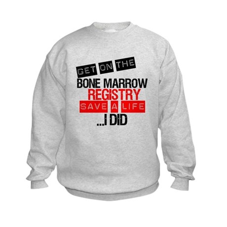 GetOnThe Bone Marrow Registry Kids Sweatshirt
