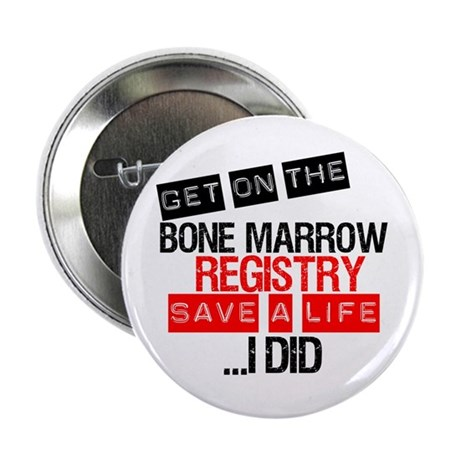 "GetOnThe Bone Marrow Registry 2.25"" Button (1"