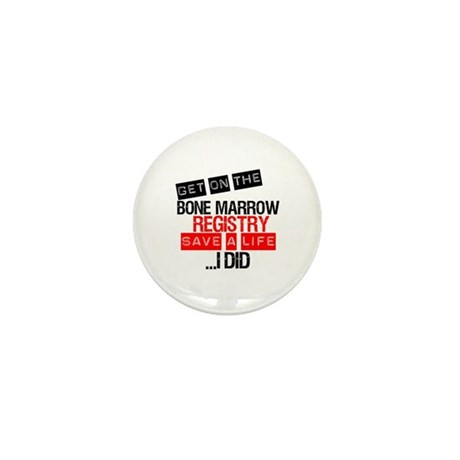 GetOnThe Bone Marrow Registry Mini Button (10 pack
