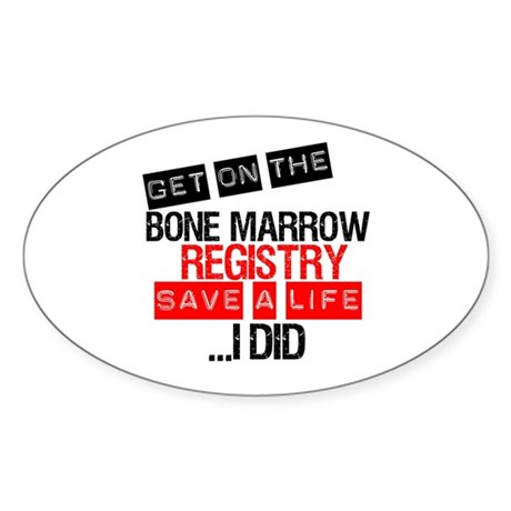 GetOnThe Bone Marrow Registry Oval Sticker