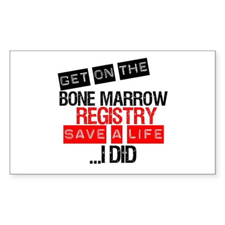 GetOnThe Bone Marrow Registry Rectangle Sticker 1