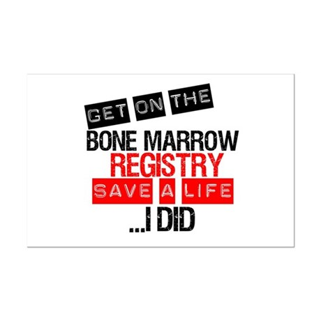 GetOnThe Bone Marrow Registry Mini Poster Print