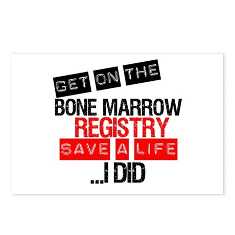 GetOnThe Bone Marrow Registry Postcards (Package o