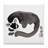 Sleeping Cat Asian Tile Coaster