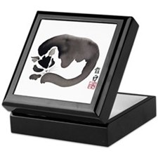 Sleeping Cat Asian Keepsake Box