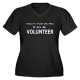 Volunteer Women's Plus Size V-Neck Dark T-Shirt
