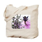 Purple Fairy w/Hummingbirds Tote Bag