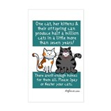 Half a Million Cats - Spay Neuter Decal