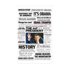 Obama: The 44th President Hea Rectangle Sticker 1
