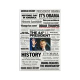 Obama: The 44th President Hea Rectangle Magnet (10
