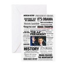 Obama: The 44th President Hea Greeting Cards (Pk o
