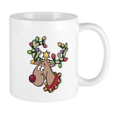 Reindeer With Lights Mug
