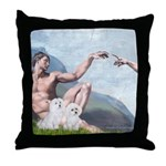 Creation/Maltese + Poodle Throw Pillow