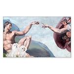 Creation/Maltese + Poodle Rectangle Sticker