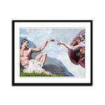 Creation/Maltese + Poodle Framed Panel Print