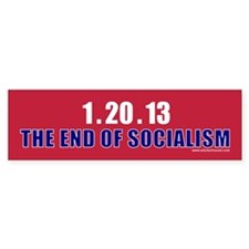 1.20.13 The End of Socialism Bumper Sticker