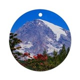 Mt. Rainier Ornament (Round)
