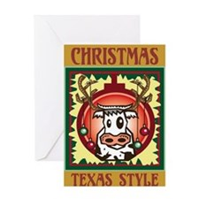 Texas Style Christmas Greeting Card