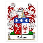 Rakov Family Crest Small Poster