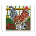 D'Uccle Rooster Small Poster